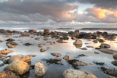 Dunstanburgh Photograph - Holy Island Reflection by Chris Frost