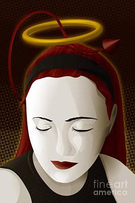 Holy Mary Print by Sandra Hoefer