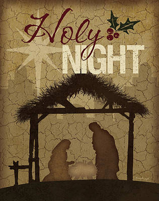 Holy Night Nativity Print by Jennifer Pugh