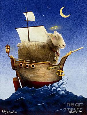 Holy Sheep Ship... Print by Will Bullas