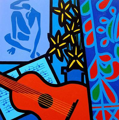 Acrylic Pop Art Painting - Homage To Matisse I  by John Nolan