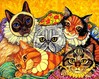 Animal Shelter Painting - Home At Last Cats by Sherry Dole