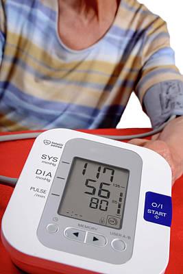 Self Shot Photograph - Home Blood Pressure Testing by Aj Photo