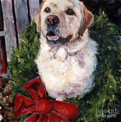 Wreath Painting - Home For The Holidays by Molly Poole