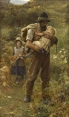 Youngster Digital Art - Home From The Fields by Arthur Hacker