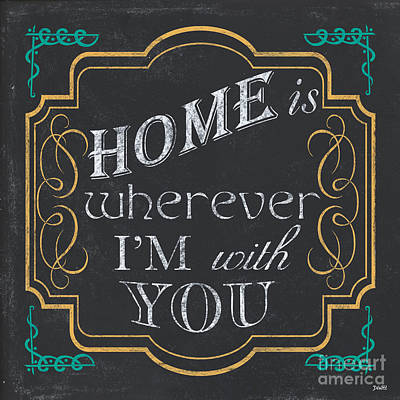 Word Painting - Home Is... by Debbie DeWitt