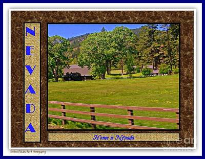 High Sierra Digital Art - Home Is Nevada by Bobbee Rickard