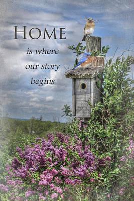 Bluebird Digital Art - Home Is Where by Lori Deiter