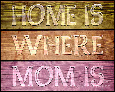 Charming Cottage Digital Art - Home Is Where Mom Is by Ginny Gaura