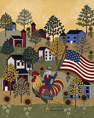 Patriotic Painting - Home Of The Brave by Medana Gabbard