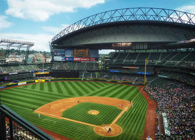 Home Of The Mariners - Safeco Field Print by Mountain Dreams