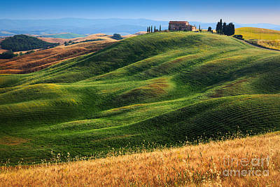 Siena Photograph - Home On The Hill by Inge Johnsson