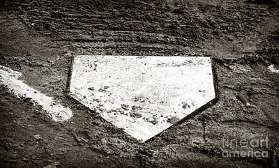 Baseball Art Photograph - Home Plate by John Rizzuto