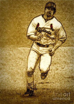 Home Run Print by Terry Wallace