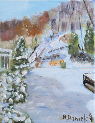 Snowscape Painting - Home Scene South by Michael Daniels