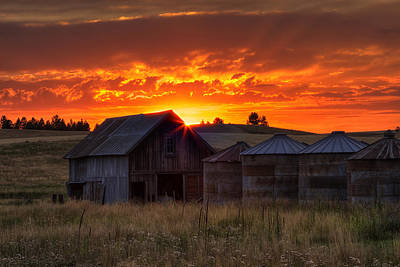 Silos Photograph - Home Sweet Home by Mark Kiver
