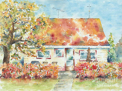 Burnt Sienna Painting - Home Sweet Home by Pat Katz