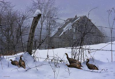 Home Through The Snow Print by Ron Jones