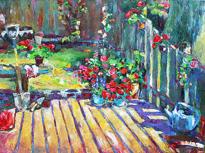 Becky Kim Artist Painting - Home Where True Beauty Is Planted by Becky Kim