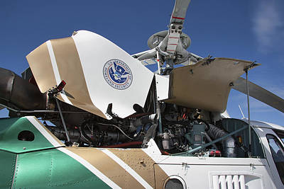 Helicopter Photograph - Homeland Security Hi-performance Helicopter by Daniel Hagerman