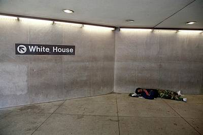 Homeless Photograph - Homeless Man Sleeping Rough by Jim West