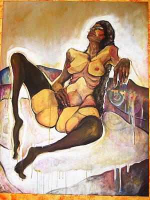 Homenaje A Schiele Original by Sara Alvarez Tome