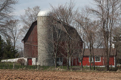 Homestead Farm Print by Nancy TeWinkel Lauren