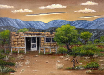 Earth Tones Painting - Homestead by Gordon Beck