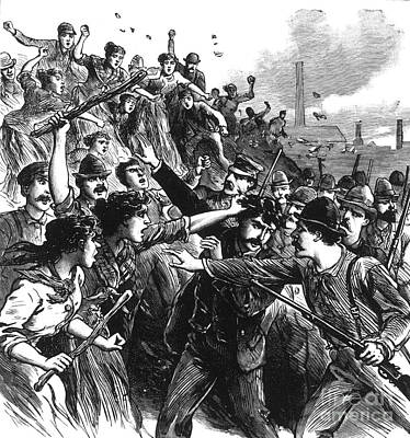 Homestead Strike, 1892 Print by Photo Researchers