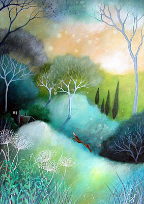 Orb Painting - Homeward by Amanda Clark