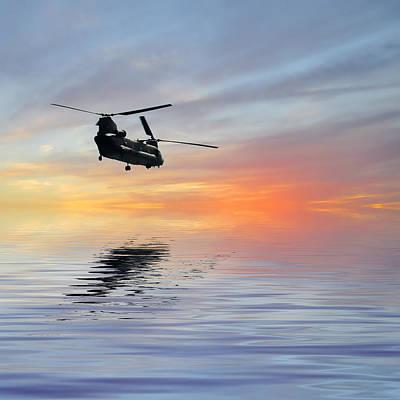 Helicopter Digital Art - Homeward Bound 3 by Sharon Lisa Clarke
