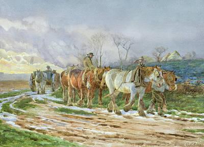 The-way Painting - Homeward Bound by Charles James Adams