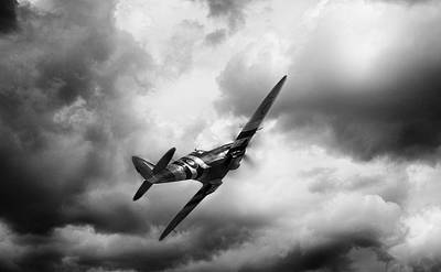 Spitfire Digital Art - Homeward Bound by Peter Chilelli
