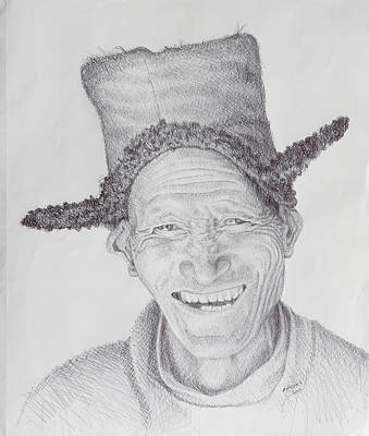 Positive Attitude Drawing - Homo Sapiens Iv by Mike Walrath