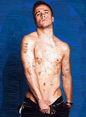 Male Painting - Homosexual Art Poster by Michael Vicin