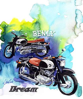 Honda Painting - Honda Dream And Beniy by Yoshiharu Miyakawa