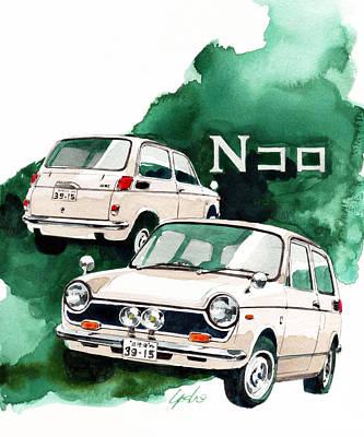 Honda Painting - Honda N360 by Yoshiharu Miyakawa