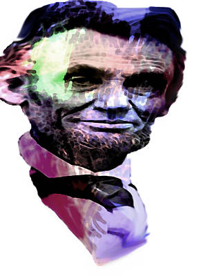 President Lincoln Painting - Honest Abe by Coconut Lime Design