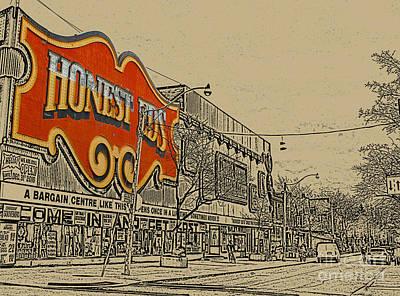 Honest Eds On Markham Street Print by Nina Silver