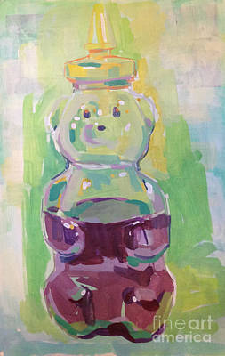 Lemon Painting - Honey Bear by Kimberly Santini