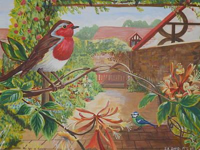 Honey Birds Print by David Paterson
