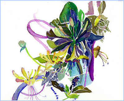 Honey Suckle Vine Print by Mindy Newman