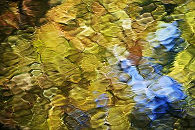 Honey Wheat Mosaic Abstract Art Print by Christina Rollo