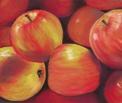 Healthy Print featuring the painting Honeycrisp Apples by Anastasiya Malakhova