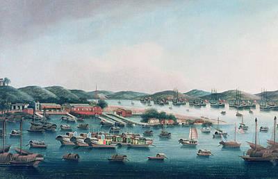 Hong Kong Painting - Hong Kong Harbor by Cantonese School