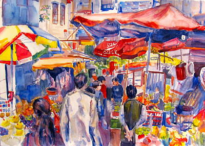 Hong Kong Market Print by Joyce Kanyuk