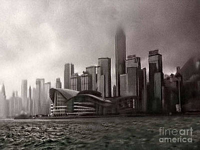 Hong Kong Rain 5 Print by Tom Prendergast