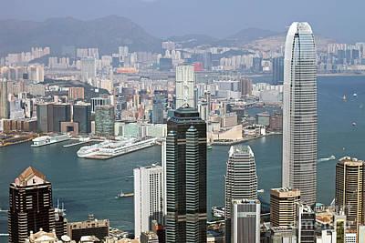 Hong Kong Photograph - Hong Kong Skyline by Lars Ruecker