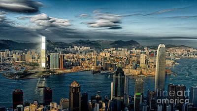 Tsui Photograph - Hong Kong Victoria Bay by Thierry CHRIN