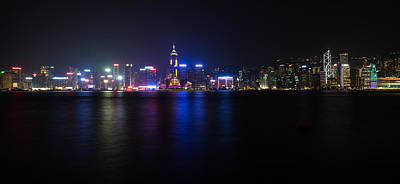 Hong Kong Waterfront Print by Mike Lee